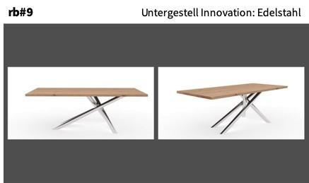 Untergestell Innovation: Edelstahl
