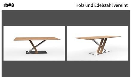 Holz und Edelstahl vereint