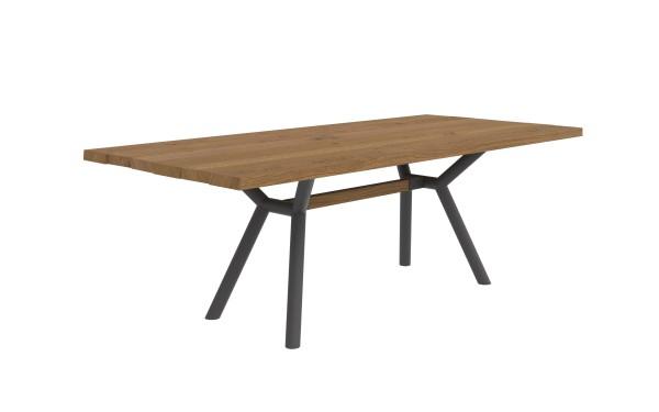 Esstisch Spectre mit Tischplatte aus massiven & nachhaltigen Holzbohlen