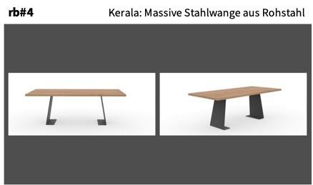Kerala: Massive Stahlwange aus Rohstahl