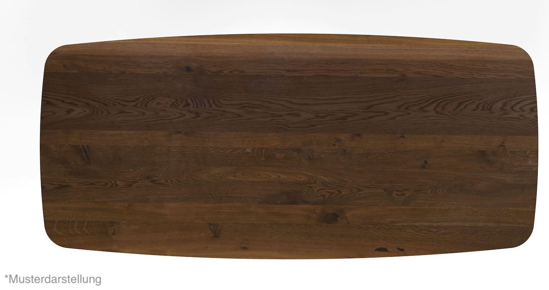 Massivholztisch Gestalten Bootsform Rauberg