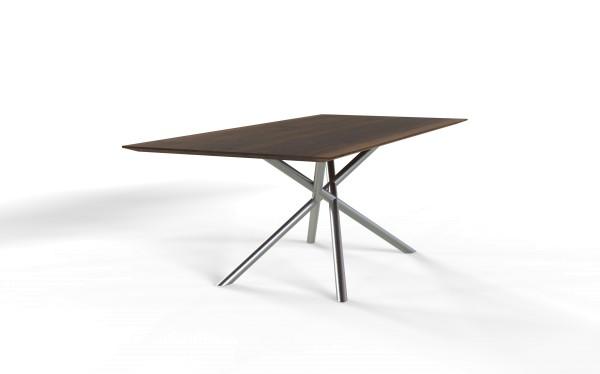 Esstisch LUX mit rechteckiger Tischplatte aus nachhaltigen Massivholz