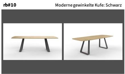Moderne gewinkelte Kufe: Schwarz