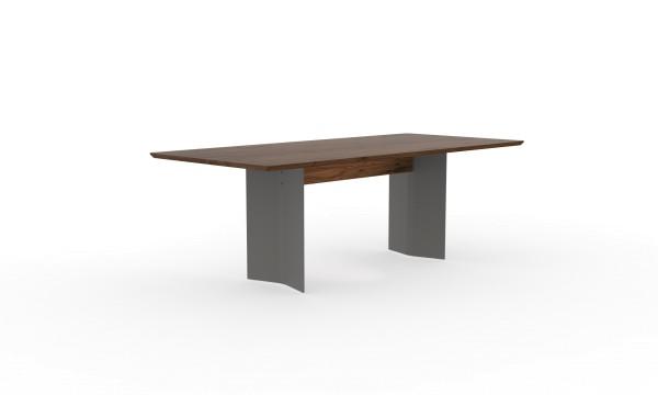 Esstisch Dive mit rechteckiger Tischplatte aus nachhaltigen Massivholz