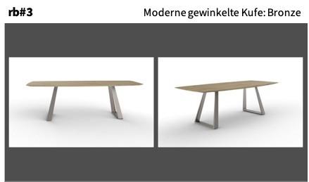 Moderne gewinkelte Kufe: Bronze