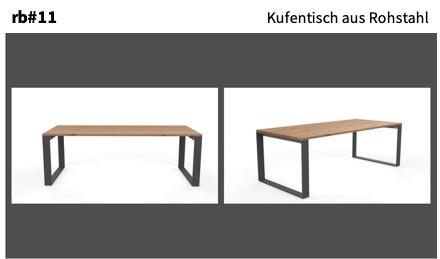 Kufentisch aus Rohstahl