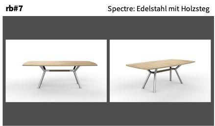 Spectre: Edelstahl mit Holzsteg